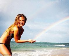 Gold at the end of the rainbow: Bar Refaeli retweeted this gorgeous picture today to mark her 27th birthday
