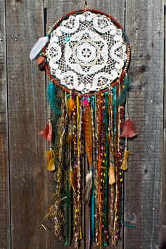 Dreamcatcher Natural Theme Large by DreamsByAndrea on Etsy, $80.00
