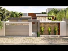 House Front Wall Design, Gate Wall Design, Exterior Wall Design, Front Gate Design, Modern Exterior House Designs, House Gate Design, Village House Design, House Paint Exterior, Modern House Facades