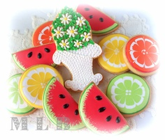 Watermelon & citrus cookies