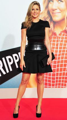 The star hit up the 2013 Toronto International Film Festival in a perfect short-sleeved dress and strappy sandals.