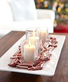 Decorate with beautiful hues of red and white with a peppermint candle tray this holiday season. Even better, not only are do these peppermint candies look great, they also taste delicious.