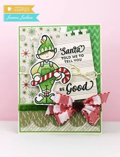 Cute Elf stamps, Christmas Elf stamps, photopolymer clear stamps from Waltzingmouse stamps | Waltzingmouse Stamps