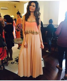 Arpita Mehta # sharara love # cropped top look # Karishma tanna