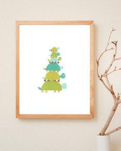Turtle Family Children's Art Print  8x10 Eco by ChildrenInspire, $22.00