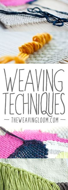 A roundup of Weaving Techniques tutorials - this blog has great information for beginners! Learn to weave :D: