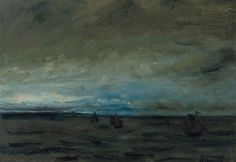 Constant Permeke, Seascape with fishing boats