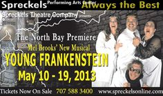 """READ REVIEW: """"Spreckels Theatre Company has created a monster of a hit with 'Young Frankenstein' ...This entire production was indeed flawless...The projection screens offer a new dimension to the art of stagecraft ....music, choreography, set and costume design working in perfect congress while cast members provided spectacular performances. This is a show not to be missed """""""