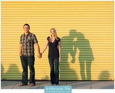 LOVE! This is the cutest engagement picture ever. Reminds me of Peter Pan with how the shadows have a life of their own.
