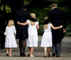 The Dutch Royal family, King Willem-Alexander, Queen Máxima, and their three daughters dressed in mourning clothes to mourn the King's brother, Prince Johan Friso. Friso died after being in a coma for over a year after a ski accident.