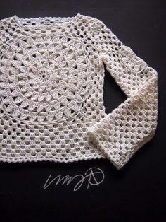 Crochet Sweater General Shaping Instructions Photo Tutorial - (omakoppa.blogspot)