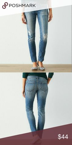 "Women's Ripped Skinny Jeans Go for a bold casual look in these women's skinny jeans from SONOMA , featuring cool ripped details. In medium wash blue. Fit and sizing ; short 27- 1/2"" inseam, average 29-1/2"" inseam, long 31-1/2"" inseam. The fabric is cotton/polyester/spandex material. Check out my closet for your one stop shop for all brand name apparel etc. Have a wonderful day everyone, and thanks for stopping by. Sonoma Jeans Skinny"