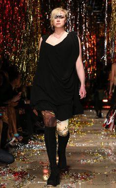 Gwendoline Christie, Game of Thrones's Brienne of Tarth, Looks Fierce on Runway at Paris Fashion Week—See Pics!  Gwendoline Christie