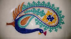 Kutch work by sonal Peacock Embroidery Designs, Applique Embroidery Designs, Kasuti Embroidery, Cross Stitch Embroidery, Ribbon Embroidery, Hand Embroidery Videos, Hand Work Embroidery, Kutch Work Saree, Kutch Work Designs