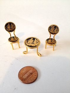 Brass Miniature Dollhouse figurine furniture by GingerNIrie