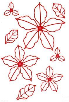 Sue Wilson Dies Festive Collection Classic Poinsettia Open Petals CED3040