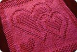 Be Mine dish or wash cloth free knit pattern