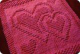 Be Mine dish or wash cloth free knit pattern