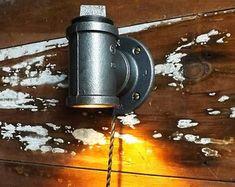 Lampe industrielle tube lampe bougeoir lumière Machine âge lampe Steam Punk Lanterne murale