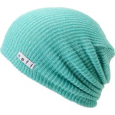Neff Daily Sparkle Turquoise   Silver Slouchy Beanie  28e5f560a074