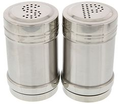 Salt and Pepper Shakers  Set of 2 Stainless Steel Shakers 15 x 3 inches 14 ounces >>> To view further for this item, visit the image link.Note:It is affiliate link to Amazon.