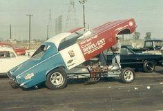 Hayden Proffit at Lions in 1968 Funny Car Drag Racing, Nhra Drag Racing, Funny Cars, 60s Muscle Cars, Drag Bike, American Motors, Drag Cars, Vintage Humor, Vintage Racing