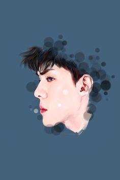 Foto Sehun Exo, Chanyeol Baekhyun, Exo Cartoon, Cartoon Art, Exo Anime, Pop Art Images, Wattpad Book Covers, Exo Fan Art, Kpop Drawings