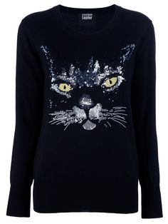 I would totally wear this sequinned cat sweater but its $493
