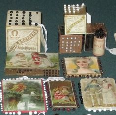 19th century pin cards and cubes Forget Me Not Antiques  2013