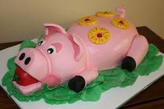 Pink Pig The theme in my son's Kindergarten class was the pink pigs, so I made this cake for the end of the year party Kindergarten Class, Piggy Bank, Cakes, Google, Pork, Food Cakes, Money Bank, Pastries, Torte