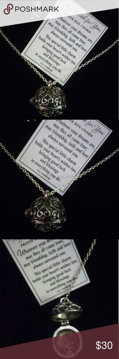 """My Wish for You Charm Locket on sterling silver This is one of the kindest gifts you could give a woman of any age or phase in life. The sentimentality will quickly make this an heir loom piece. The angel rests inside the magnetic closure 1"""" locket and the """"My Wish for You"""" poem card comes prominently displayed in the box.  To ensure the sturdiness of the closure, I've been wearing one for about a month, including sleeping & showering in it and it has with held without fail. Locket itself is…"""