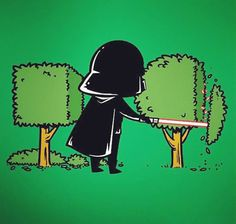 This Is What Our Superheroes Would Be Doing Right Now If They Had Day Jobs | Darth Vader as a gardener!