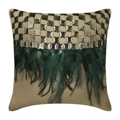 Decorative Throw Pillow Covers Accent Pillow Couch Toss Pillow Case 24x24 Euro Sham Velvet Pillow Cover Crystal Embroidered Peacock Bliss