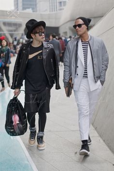 Seoul Fashion Week 2015 S/S Street style!!! #yuki #momo