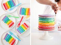 kid drawing ideas | Rainbow Cake, Art Party, kids art party, birthday cake, rainbow ...