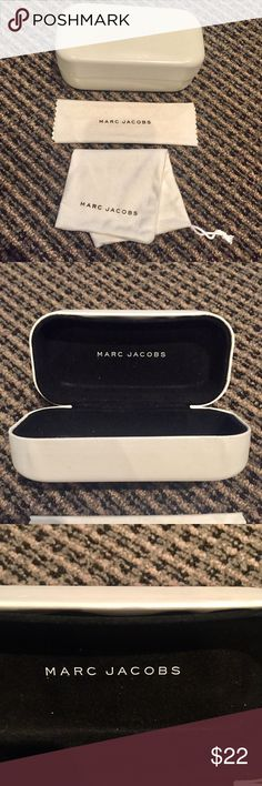"💯Marc Jacobs white sunglasses set Lost sunglasses but selling case, bag and cloth bundle. I'm used condition. Slight separation inside case shown in pictures. May be able to crazy glue it. 6.5"" Wide 3.5"" Deep 2.5"" High. Marc Jacobs Accessories Sunglasses"
