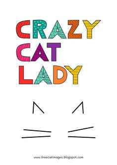 FREE printable cat lady print - freebie