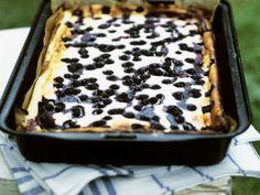 Rezept: Quarkkuchen mit Heidelbeeren