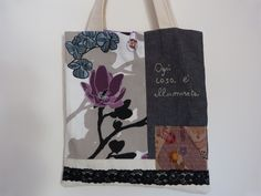 my last handmade bag 'ogni cosa è illuminata'