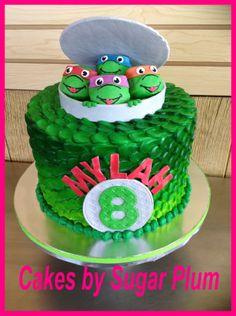 This Girly Teenage Mutant Ninja Turtles Cake Rocks Girl ninja