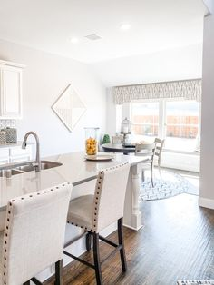 Open windows for dining! Bloomfield Homes, Open Window, Home Kitchens, Windows, Dining, Table, Furniture, Home Decor, Food