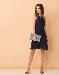 accessoires robe bleue marine. Black Bedroom Furniture Sets. Home Design Ideas