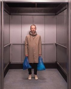Thom Yorke behind the scenes of Lift #Radiohead