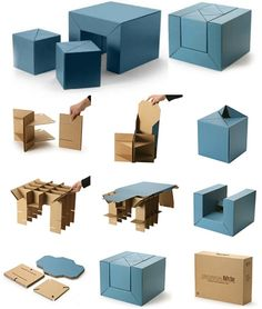 CFS Furniture Set, A Cardboard Table And Stool Combo For Kids Looks Fun // This looks so much fun!!!
