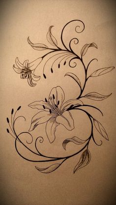 Again Lily Tattoo Design