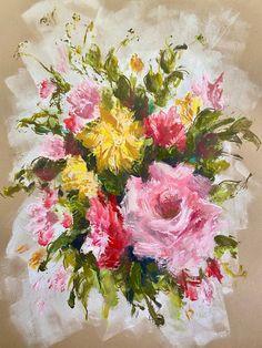 Original Floral Painting by Heidi Shedlock Africa Painting, Floral Paintings, Chalk Pastels, Mark Making, Floral Style, Medium Art, Expressionism, Paper Art, Saatchi Art