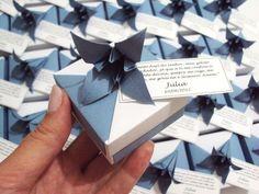 mini móbile || tsuru com caixinha e lírio * baby - Sakura Origami & Acessórios