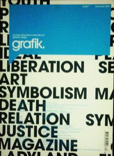 Grafik: Journal of the Best in International Graphic Design magazine, UK edition