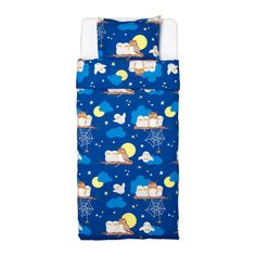 Ikea Vandring Uggla Duvet Cover and Pillowcase, Twin, Dark Blue, Owl Print Childrens Curtains, Childrens Beds, Pottery Barn, Owl Bedding, Forest Room, Owl Print, Shabby, 3d Max, Little Girl Rooms