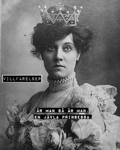 """""""En jävla prinsessa"""" #villfarelser"""